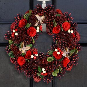 Woodland Roses Deluxe Christmas Wreath
