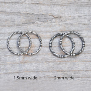 Textured Stacking Rings In Sterling Silver - rings