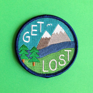 Get Lost Iron On Patch