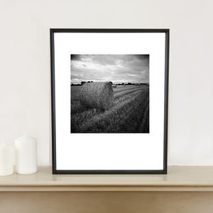 Hay, Occold, Suffolk, Signed Art Print - nature & landscape