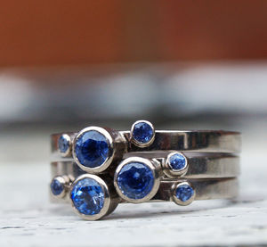 Sapphire Stacking Rings - engagement rings