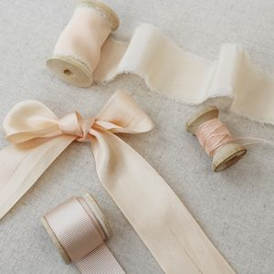 Champagne Silk Ribbon, Traditional Bridal Collection