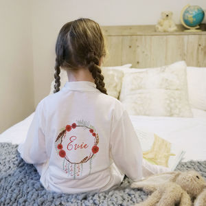 Personalised Winter Children's Dressing Gown