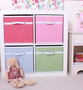 Fabric Storage Box Four Colours Available - storage & organisers