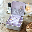 Personalised Square Travel Jewellery Box