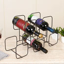 Five Square Geometric Abstract Black Wire Wine Rack