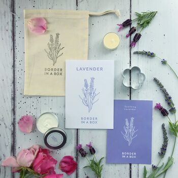 Grow Your Own Lavender Shortbread Kit And Cookie Cutter
