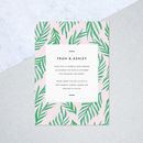 Painted Palm Wedding Invites