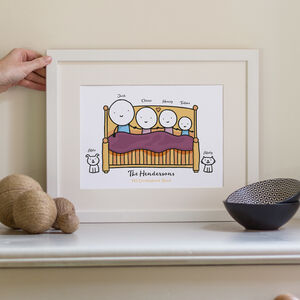 Personalised Family Bed Print