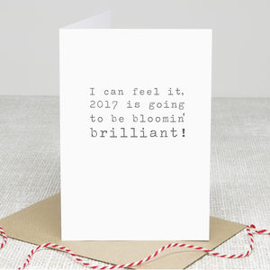 'Brilliant 2017' New Year Greetings Card - cards & wrap