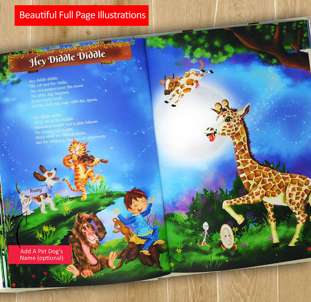 Personalised Nursery Rhymes And Poems Book By My Magic Name
