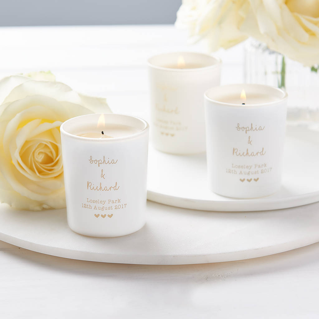 Personalised Wedding Favour Votive Candle