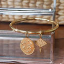 Ines Gold Charms Bangle