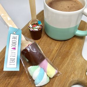 Unicorn Hot Chocolate Dippers With Marshmallows