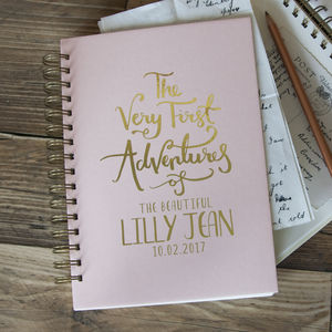 First Adventures New Baby Memory Book - new baby gifts