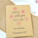 I Would Pick You … Seed Packet Wedding Favour