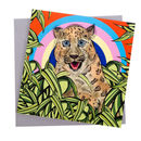 Rainbow Amur Leopard Greetings Card