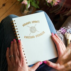 Personalised Knitting Projects Foil Notebook