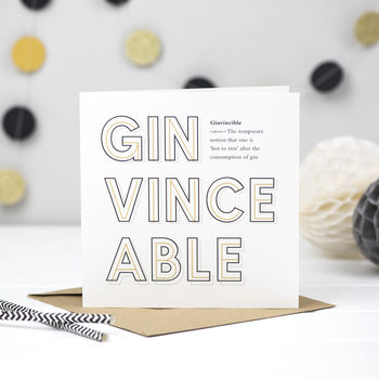 'Ginvincible' Gin Card