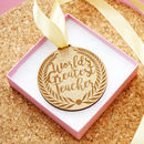 Personalised Teacher Medal