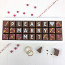 Chocolates With Please Will You Marry Me Message