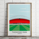 Custom Contemporary Print Of Any Rugby Stadium