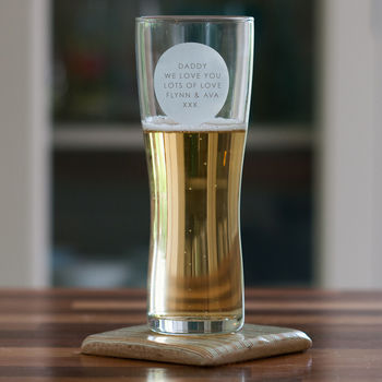 Personalised Beer Glass