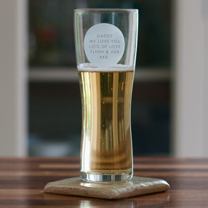Personalised Beer Glass - 30th birthday gifts