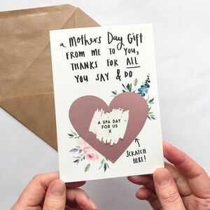 Floral Mothers Day Treat Scratch Card