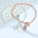 Sterling Silver Or Rose Gold Heart Friendship Bracelet