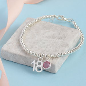 18th Birthday Beaded Bracelet - bracelets & bangles