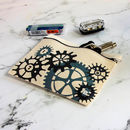 Personalised Bike Gears Zipped Pouch For Cyclist