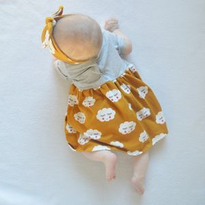 Cloud Print Baby And Toddler Dress