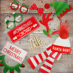 Christmas Photo Booth Props With Frame - fancy dress
