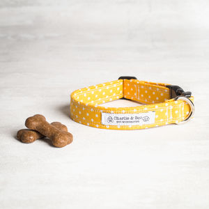 Yellow Dog Collar For Girl Or Boy Dogs