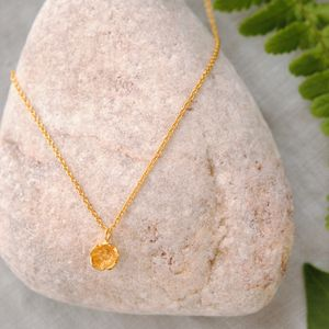 Gold Small Flower Necklace - new in wedding styling