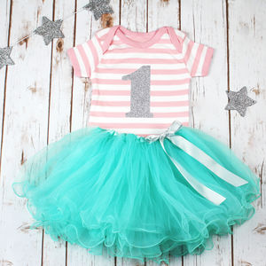 Baby's First Birthday Sparkle Tutu Outfit