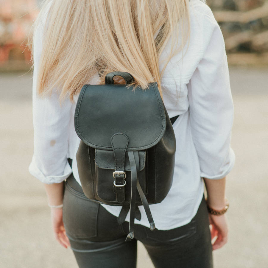 small leather backpack by scaramanga | notonthehighstreet.com