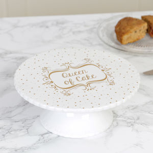 Queen Of Cake Ceramic Cake Stand - cake stands