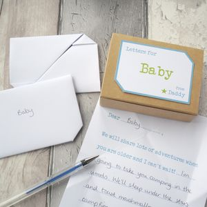 Personalised New Dad Or Dad To Be Keepsake Letters - keepsake boxes