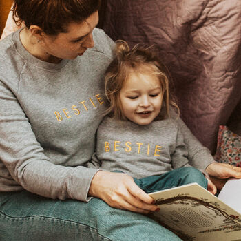 Mum And Me Bestie Organic Embroidered Sweats