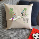 Personalised Bike Scene Cushion