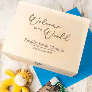 Personalised Baby Keepsake / Memory Box For New Mums