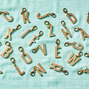 Brass Alphabet Charms - charm jewellery