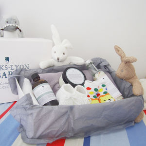 Create Your Own Neutral New Baby Organic Gift Box - baby shower gifts