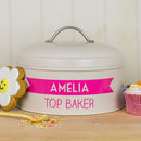 Personalised Cream Banner Cake Tin