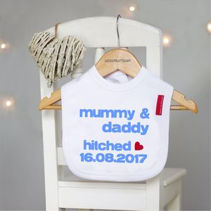 Personalised Getting Hitched Bib - baby care