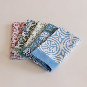 Block Print Napkins - kitchen