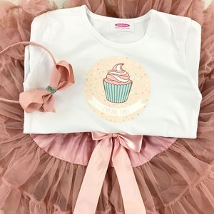 Moonstone Pettiskirt And Cute Cupcake T Shirt Gift Set - skirts