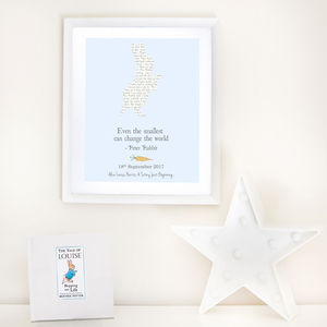 Personalised Peter Rabbit Print And Book Set - children's room